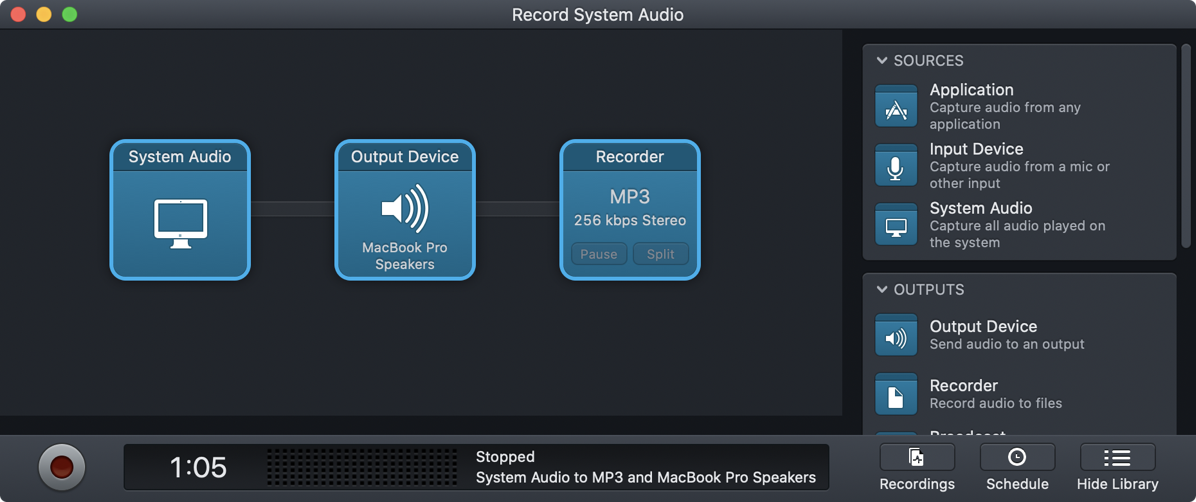 Record System Audio with Audio Hijack