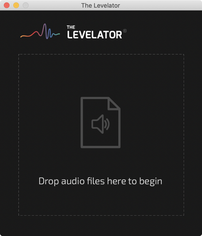 The Levelator Drag and Drop Interface