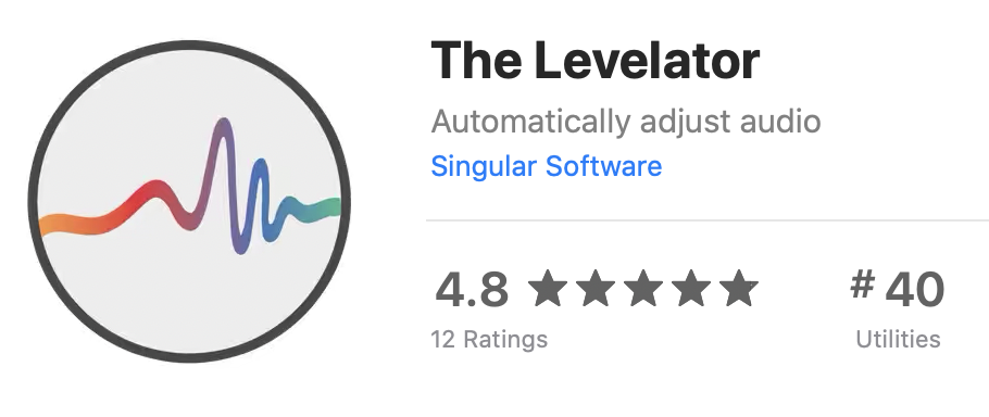 The Levelator in the Mac App Store