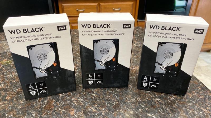 Western Digital 4TB Black drives