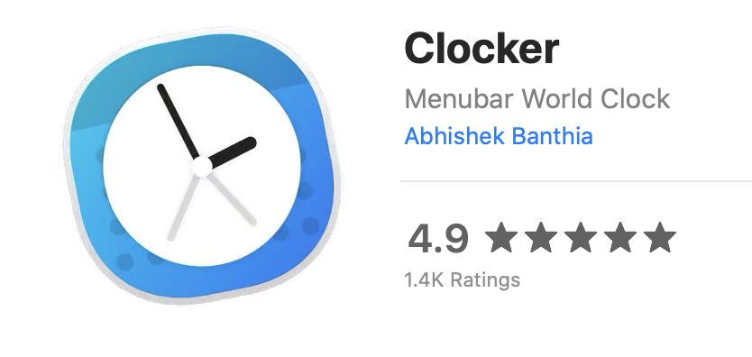 Clocker Logo in Mac App Store