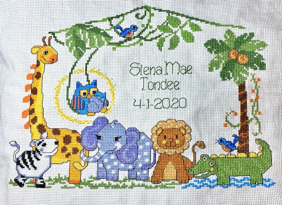 Cross Stitch Pattern With Lettering