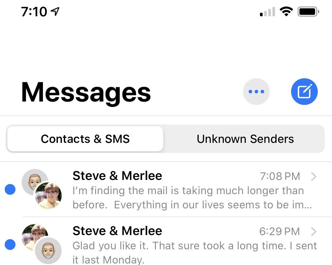 Double thread in Messages