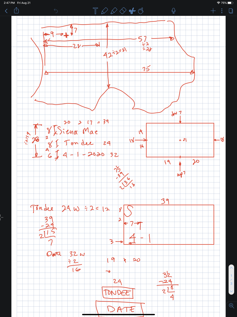 Messy calculations about pillow