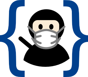 PBS logo with mask