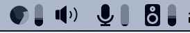 SoundSource menubar icons for Chrome Input and Output meters