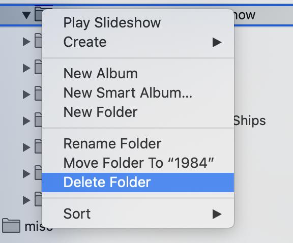 Apple Photos Delete Folder