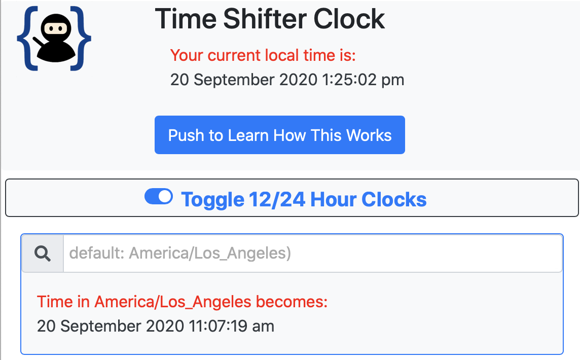 Upper part showing Push to Learn button followed immediately by the 12/24 hour toggle