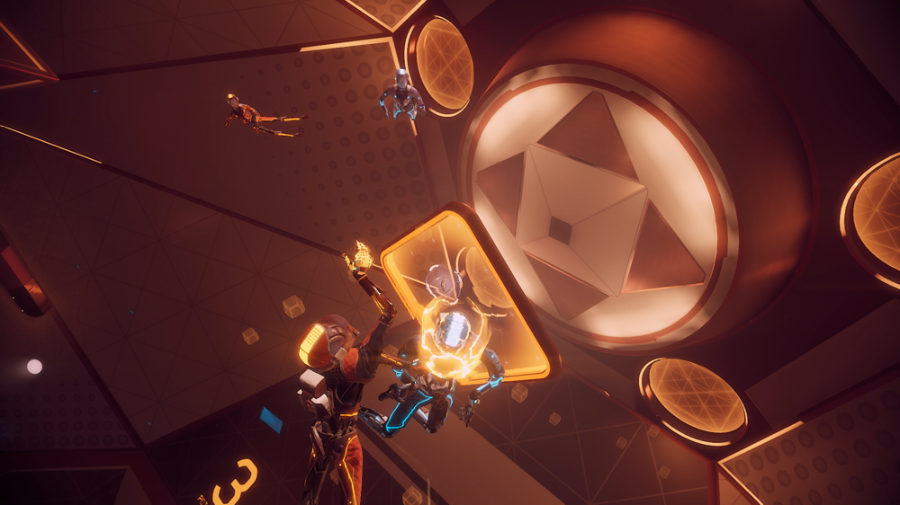 Echo VR floating in space