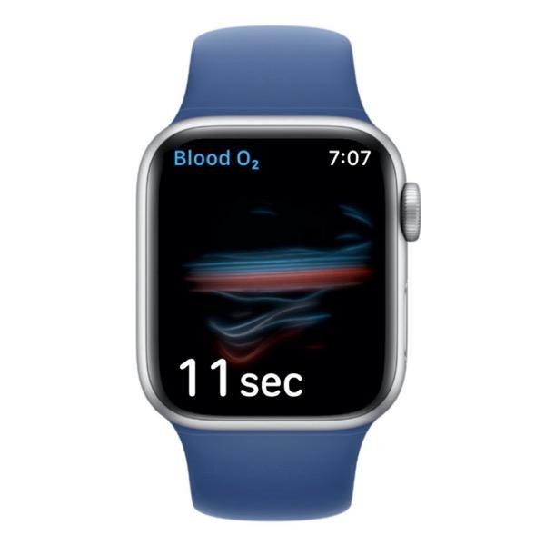 Blood Oxygen Measurement in Progress