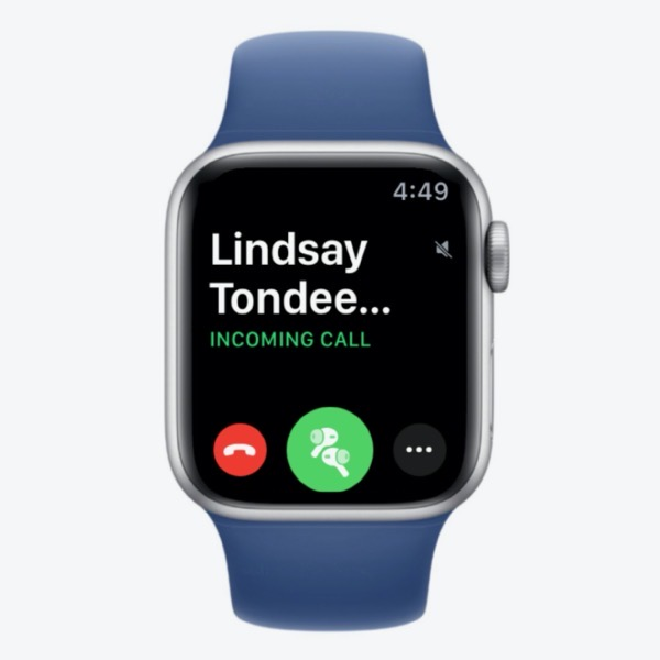 Incoming Phone Call on Apple Watch