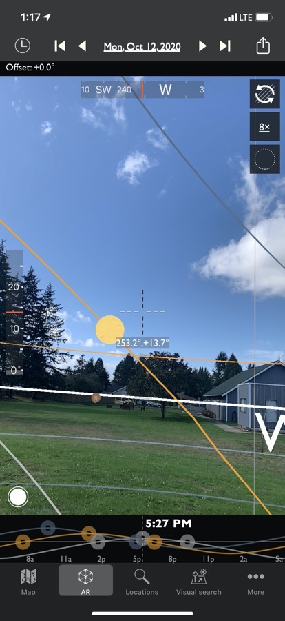TPE AR Mode Showing Future Sun Position