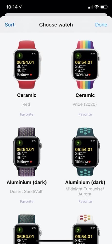 Watchshot Choose Watch Screen