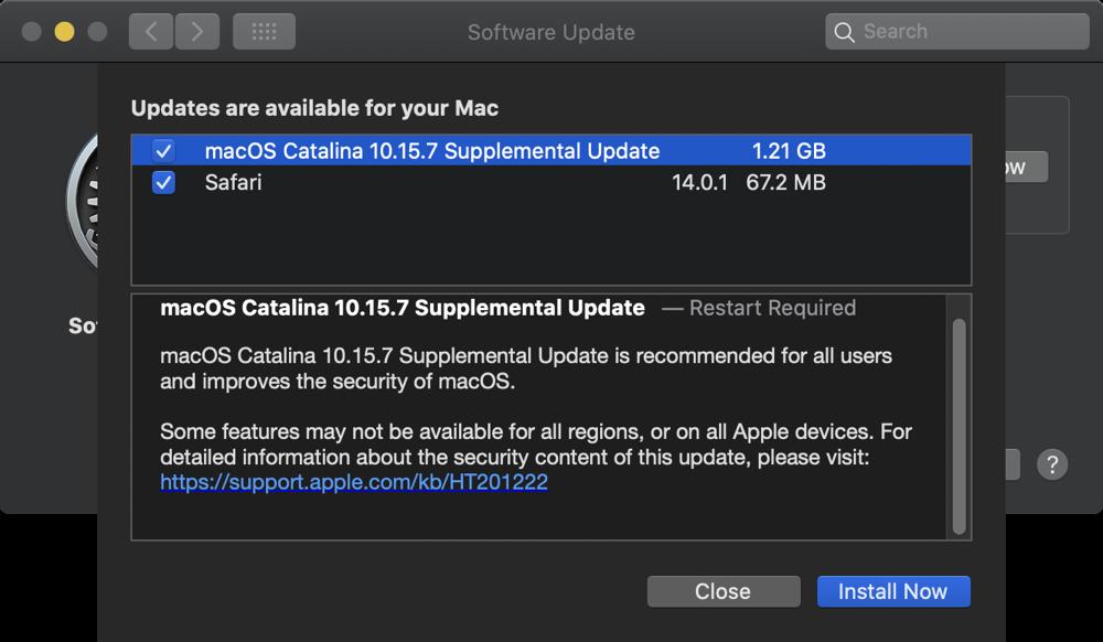 03 Software Update Catalina and Safari