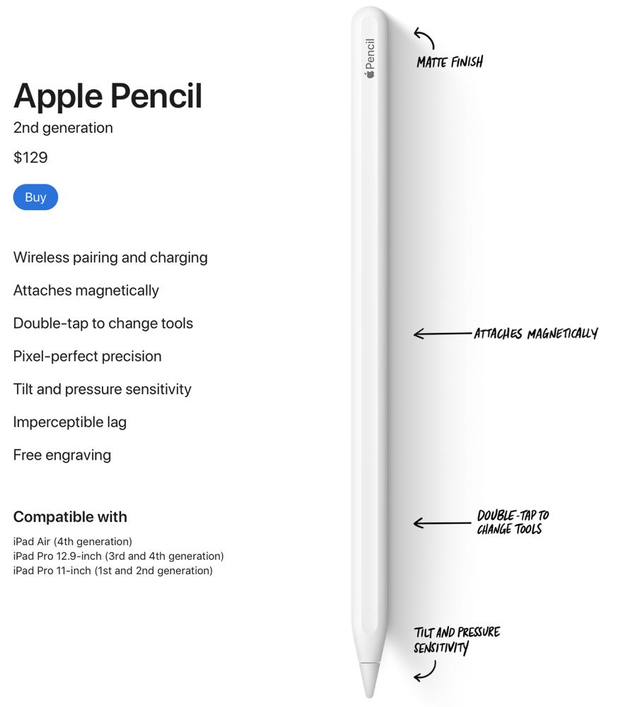 Apple Pencil on Apple Store