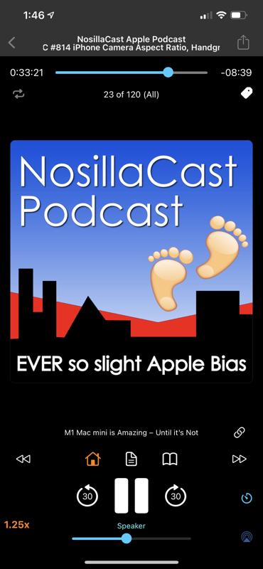 iCatcher Player showing NosillaCast