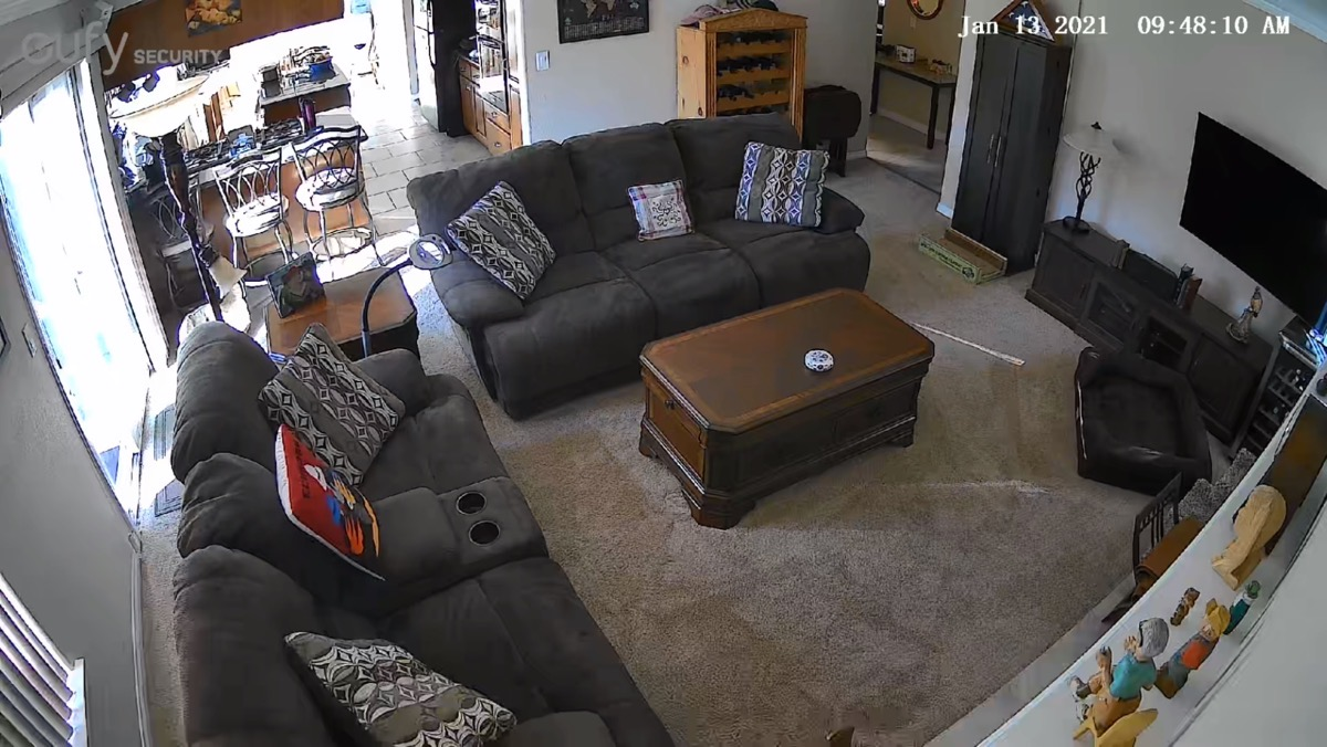 Eufy Indoor Cam View of Family room