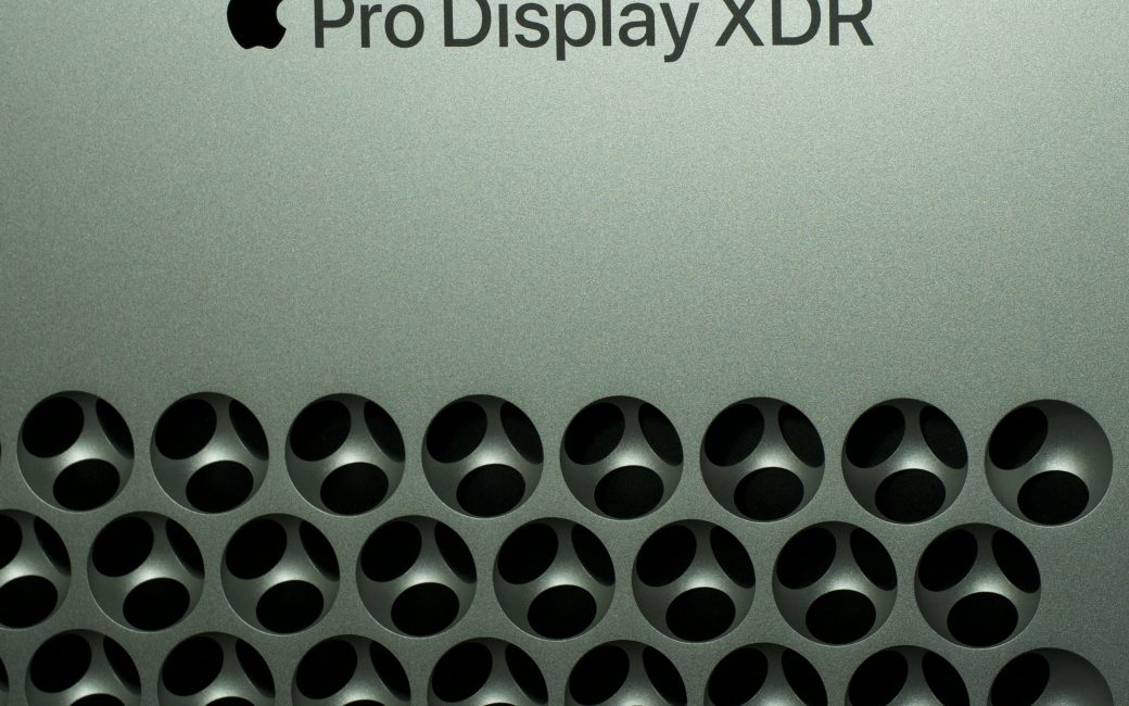 Holes on the back of the Pro Display XDR display