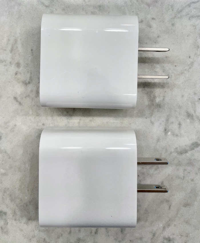 Two Apple USB C Chargers Identical