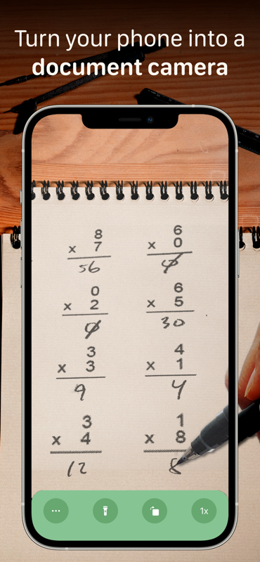 iPhone showing math problems