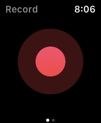 Just Press Record showing single red button