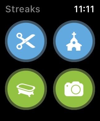 Streaks App with 4 buttons