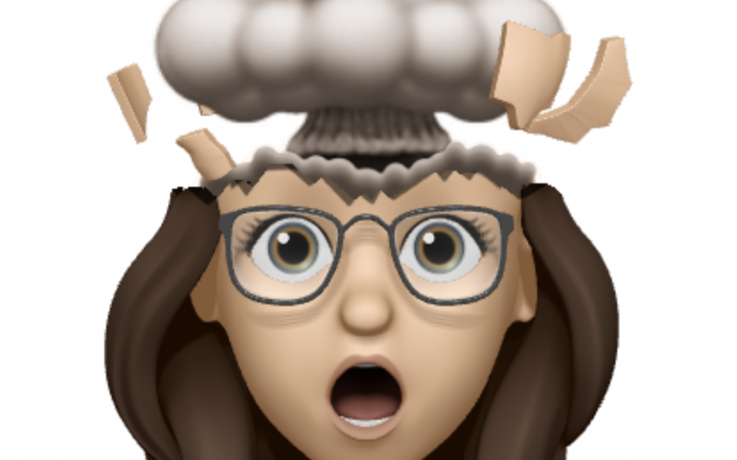 Everything is Fiddly Allison Memoji Top of Head Blown Off