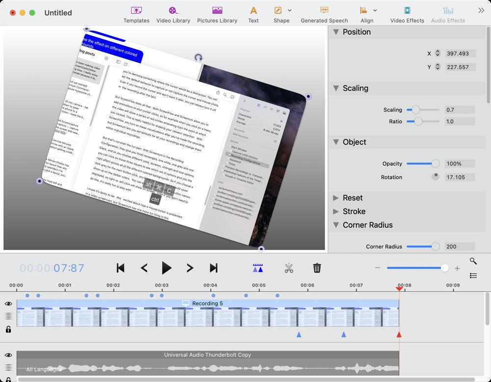 Screenium Video Editor