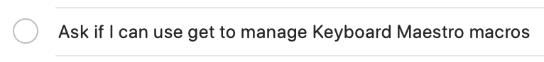 Remind me of Git in Reminders