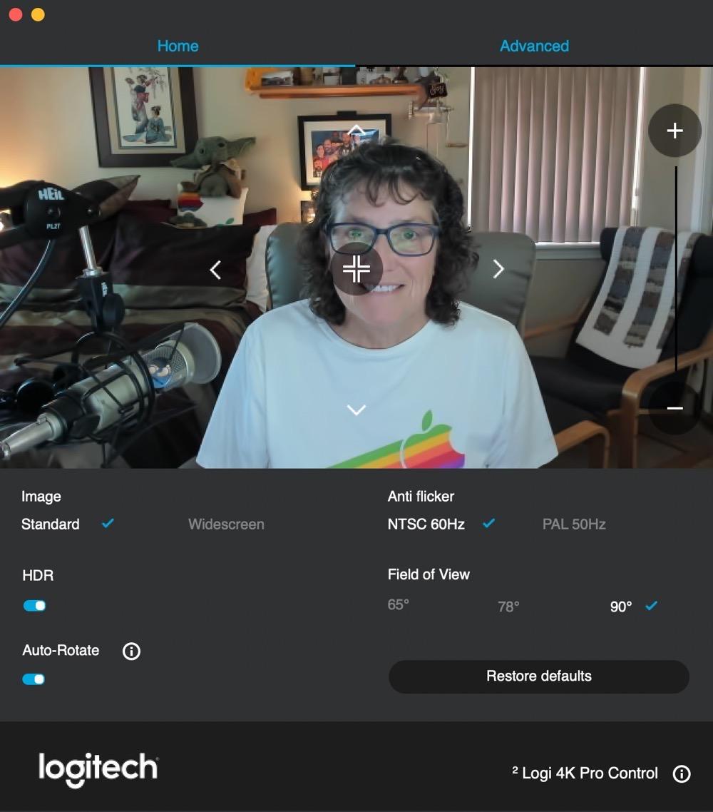 Camera Settings Home Screen