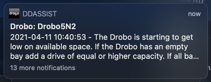 Drobo is Annoyed About Space Too
