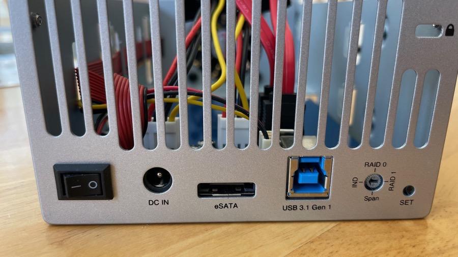 OWC Backplane RAID Dial USB 3 eSATA