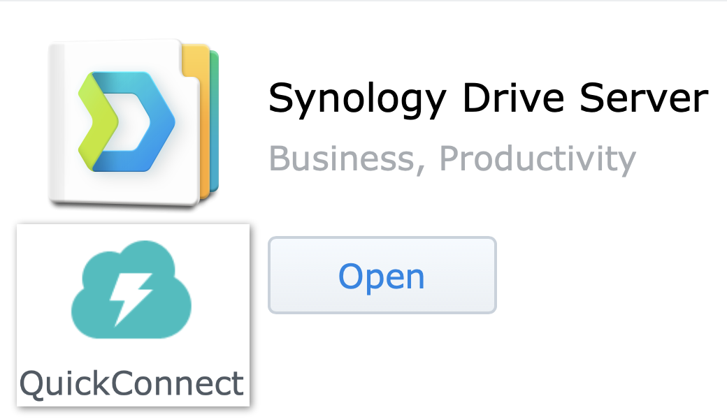 logos for Synology Drive + Quickconnect