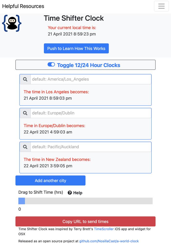 Time shifter clock v2