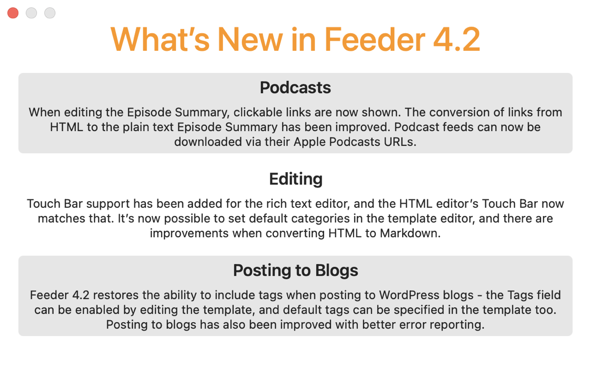 Feeder Adds Podcasts URLs