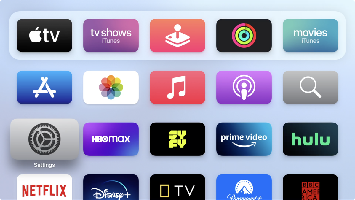 Apple TV Which Icon is Active
