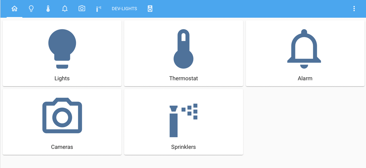 Main Dashboard in Home Assistant