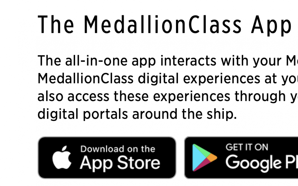 MedallionClass app in the App Store and Google Play