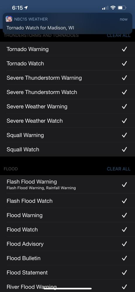 Storm Shield Notifications