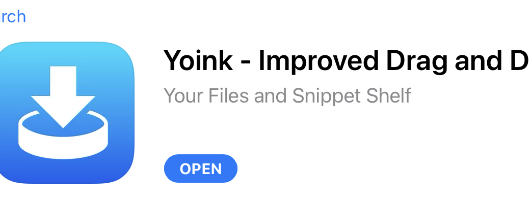 Yoink in the App Store