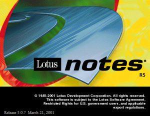Lotus Notes R5 splash screen