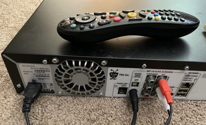 TiVo S-Video and Composite Audio