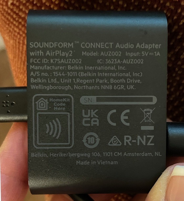 Belkin SOUNDFORM CONNECT HomeKit Placement