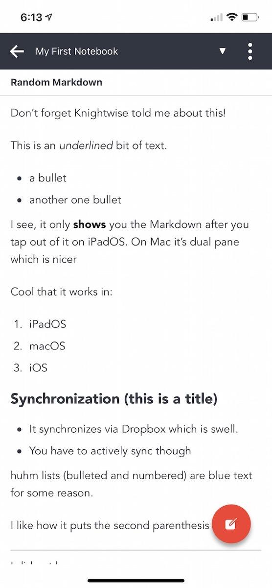 Joplin iOS Rendered