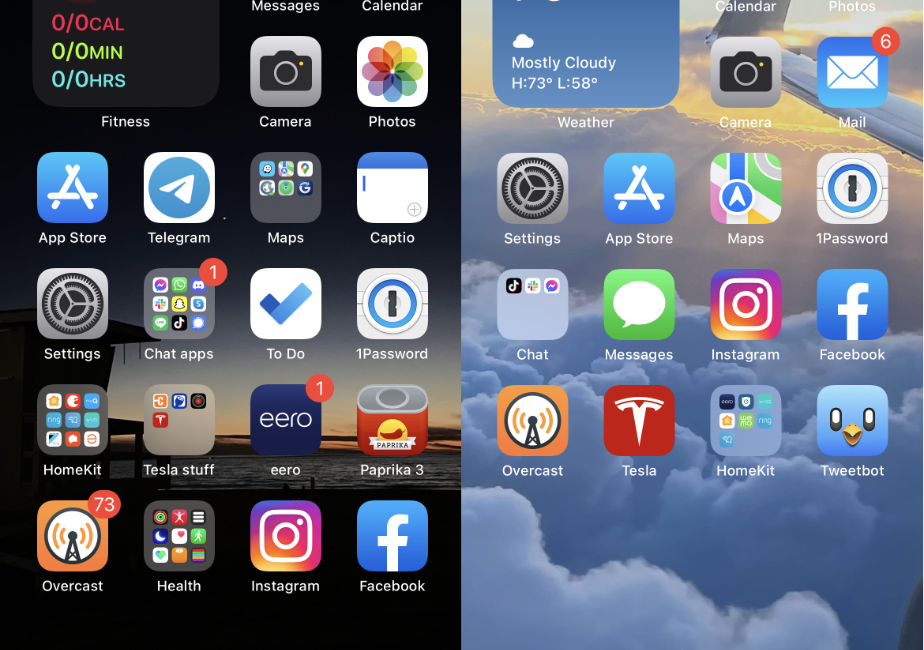 iPhone 12 vs 13 screens after nuke and pave