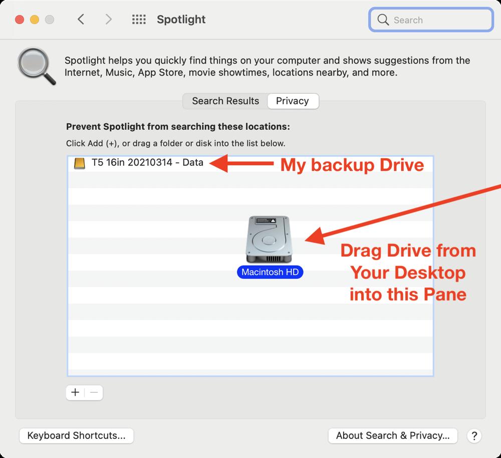 Drag Drive Into Spotlight Privacy