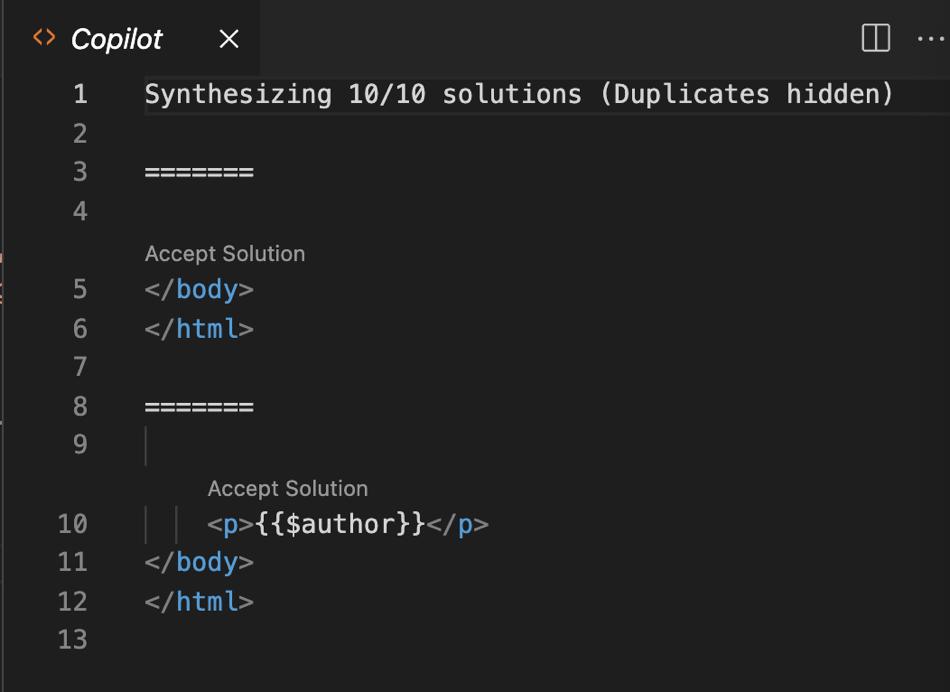 GitHub Copilot Open as a Pane