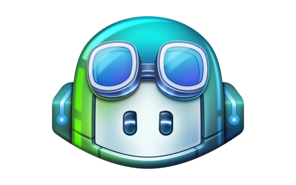 GitHub Copilot logo of a helmet with goggles, like a copilot