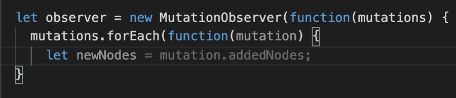 GitHub Copilot Autofills MutationObserver