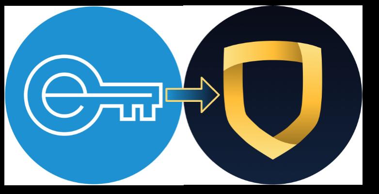 Encrypt logo pointing to StrongVPN logo